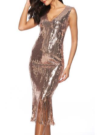 Sleeveless Sheath Midi Sexy/Party Dresses