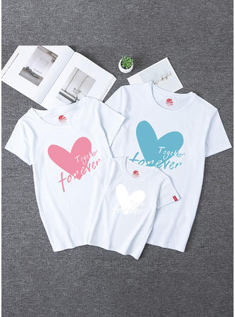 Letter Striped Print Family Matching T-Shirts