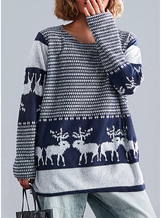 Polyester Weihnachten Weihnachts-Sweatshirt