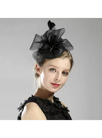 Ladies' Glamourous/Simple/Handmade/Eye-catching Cambric/Net Yarn With Tulle Fascinators
