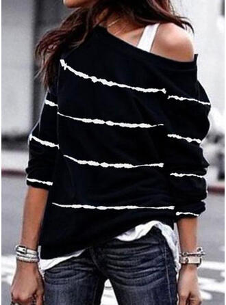 Print One Shoulder Lange ærmer Sweatshirts