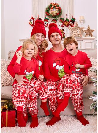 Γράμμα Мультфільм Εκτύπωση snowflake Для сім'ї Різдвяні піжами