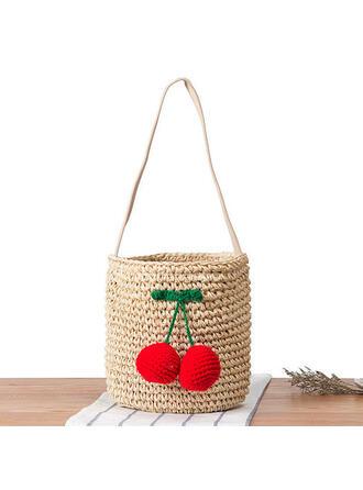 Encanto/Lindo/Estilo bohemio/Trenzado Bolso de Hombro/Bolsas de playa/Bolsas de cubo