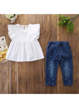 Bébé & Bambin Fille Solid Coton Jeans,Sommet Définir La Taille
