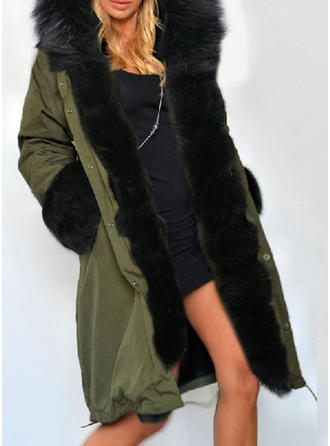 Bawełna Długie rękawy Patchworkowa Szerokie Płaszcze