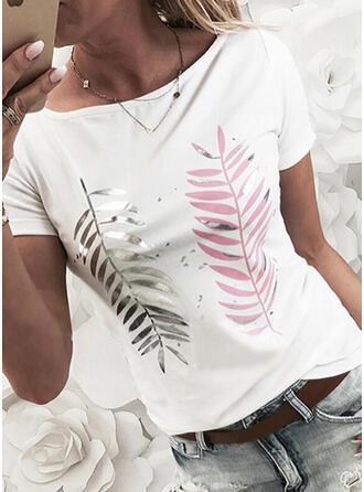 Figuur Print Ronde Hals Korte Mouwen T-shirts