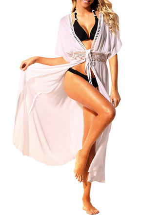 Elegant Solid Color Cover-ups Swimsuit