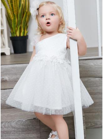 Girls Polka Dot Cute Party Flower Girl Dress