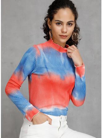 Polyester Schnurbatik Pullover