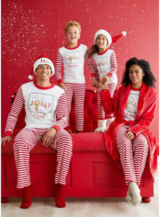 Striped Matching Family Christmas Pajamas