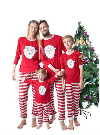 Santa Striped Christmas Family Matching