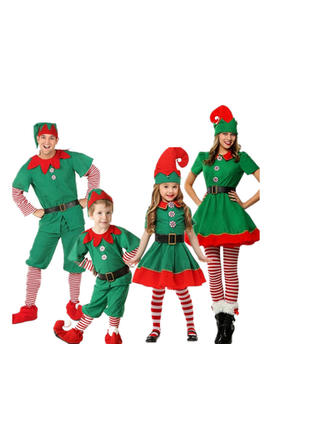 Color-block Striped Family Matching Christmas Pajamas