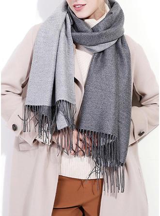 Stribet/Solid Color Koldt vejr Halstørklæde