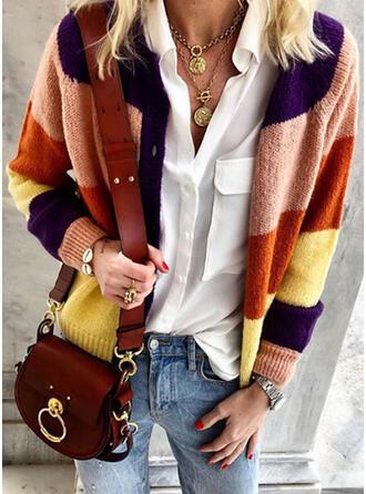 Color Block Casual Cardigan