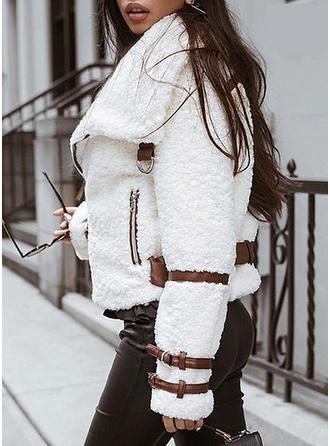 Long Sleeves Plain Jackets