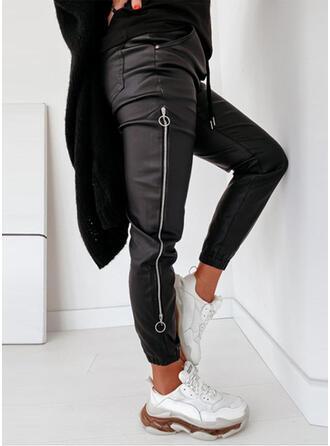 Jednolity Niejednolita całość sportieve Skórzany Zabytkowe Spodnie