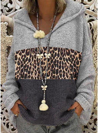 Patchwork Hooded Sweaters