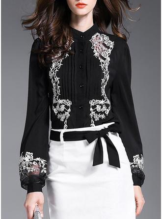 Bielizna Haftowana Długie rękawy Koszula Bluzki