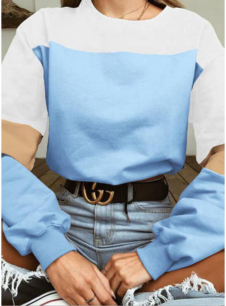 Polyester Couleurs Opposées Sweat-shirts