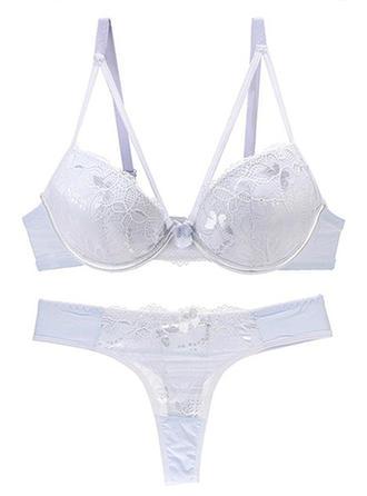 Cotton Nylon Lace Lingerie Set