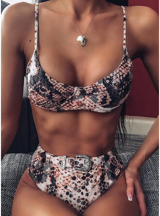 High Waist Strap Sexy Bikinis Swimsuits