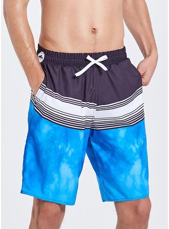 Pour des hommes Splice couleur Shorts de planche Maillot de bain