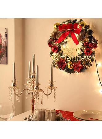 boldog Karácsonyt PVC Karácsonyi dekoráció Karácsonyi koszorú