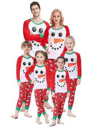 Cartoon Print Christmas Family Matching