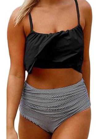 High Waist Strap Elegant Plus Size Bikinis Swimsuits
