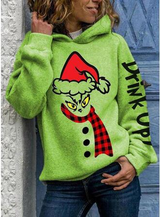 Print Grid Figur Lange ærmer Jule sweatshirt