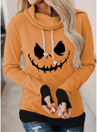 Halloween Druck Lange Ärmel Hoodie