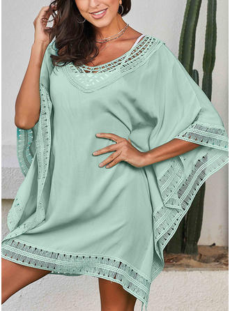 Long Sleeve Round Neck Cute Cover-ups Swimsuits