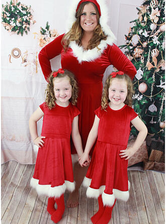Mommy and Me Plush Matching Dresses