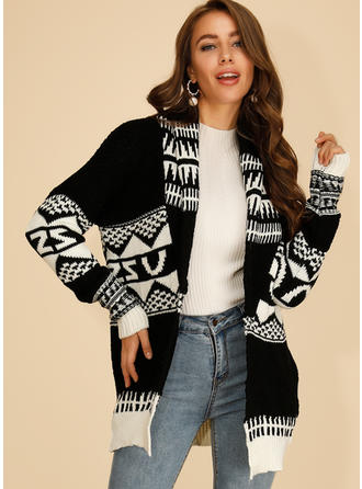 Print Chunky knit Cardigan