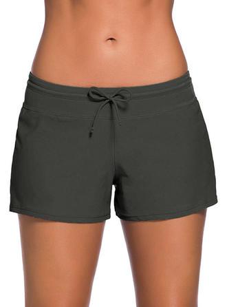 Solid Color Elegant Plus Size Bottoms Swimsuits