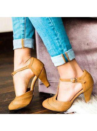 Pentru Femei PU Toc gros Încălţăminte cu Toc Înalt cu Cataramă pantofi