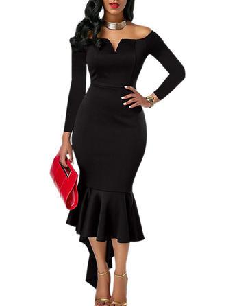 V-neck Asymmetrical Sheath Dress