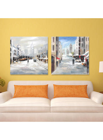 Estilo Moderno Rectángulo Pinturas de paisajes