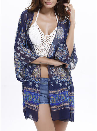 Colorful V-neck Bohemian Cover-ups Swimsuits
