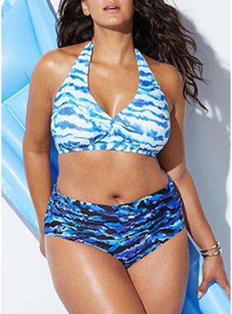 Coloré Armature Dos Nu Élégante Grande taille Bikinis Maillots De Bain