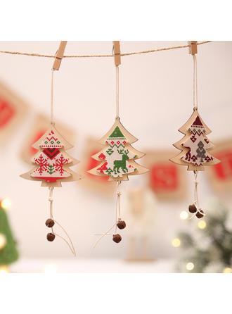 boldog Karácsonyt Függő Karácsonyfa Fa Karácsonyi medál Karácsonyi dekoráció Karácsonyi harang