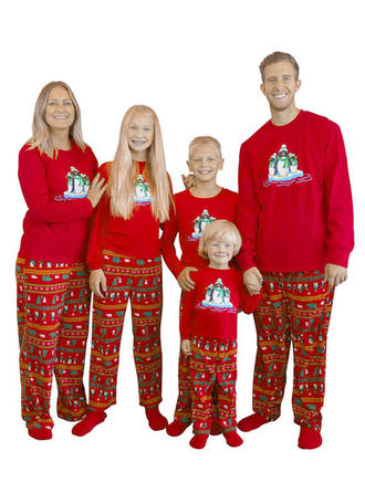 Bear Cartoon Print Family Matching Christmas Pajamas