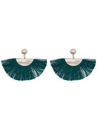 Стильний Залізо з Кисточки з ниток Жіночі Модні сережки (Продано в одній частині)