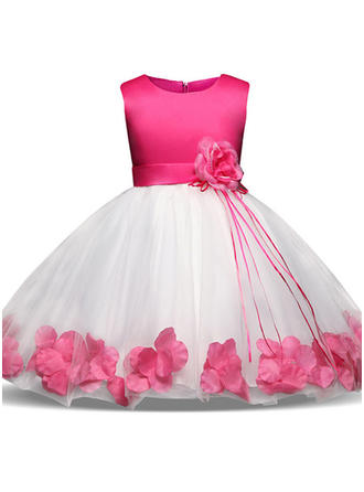 Filles Col rond Floral Patchwork Mignon Fête Fille fleurie Robe