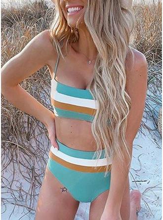 Stribet Strop Smuk Attraktiv Sødt Og Bikinier Badedragter