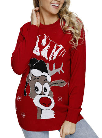 Women's Wool Deer Cartoon Ugly Christmas Sweater