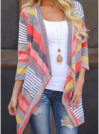 Polyester Cotton Print Cardigan
