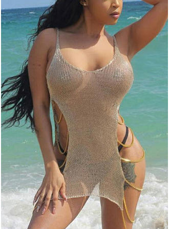 Solid Color Strap Sexy Cover-ups Swimsuits