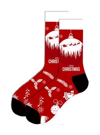 Tisk/Vánoce Santa Prodyšný/Vánoce/Posádkové ponožky/Unisex Ponožky