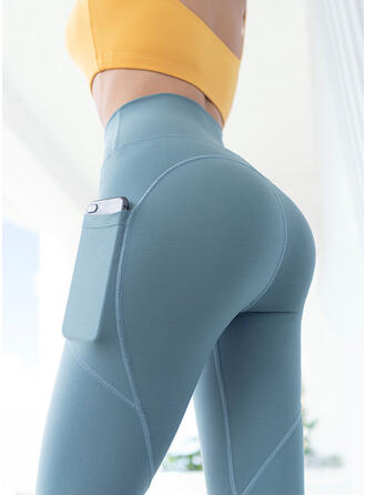 Solid Long Long Skinny Sporty Yoga Leggings